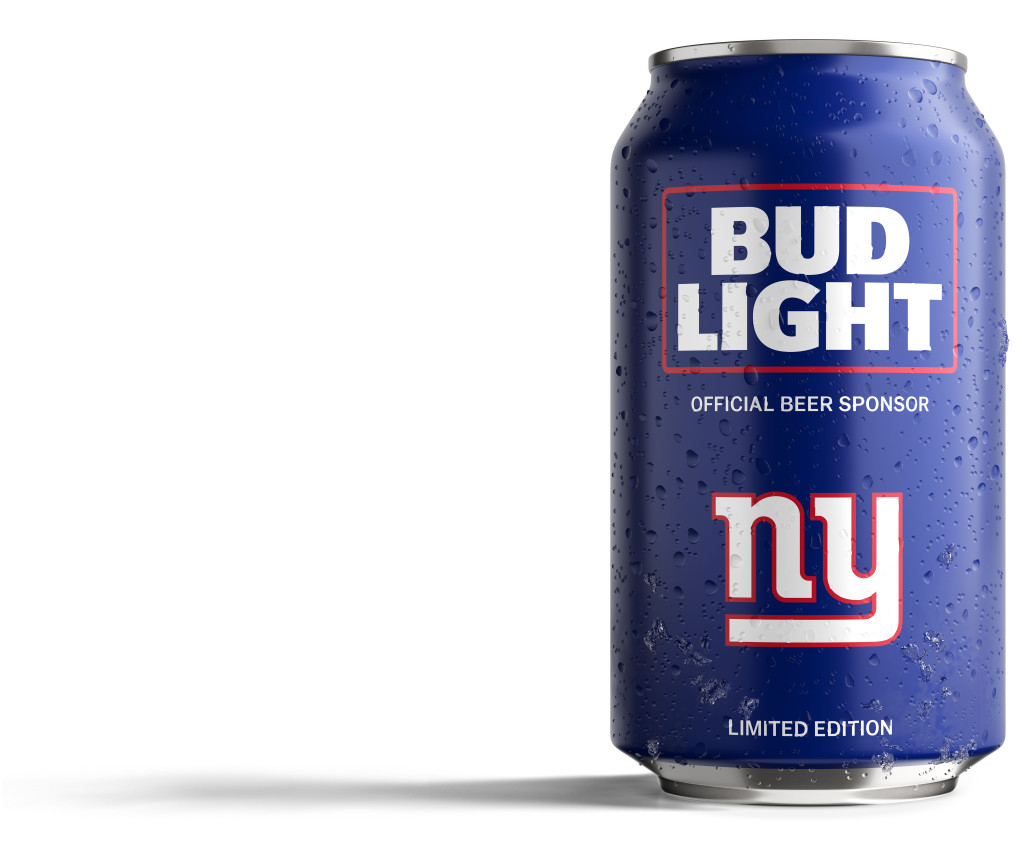 Bud Light Giants Can