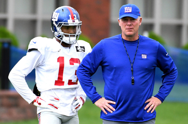 ef09e60b New York Giants head coach Pat Shurmur isn't hearing it when it comes to  last season's last place team (yes, that would be the Giants) rebuilding  this ...